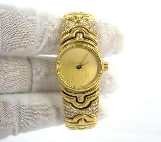 Parentesi BJ 01 Diamond 18K Yellow Gold Ladys Bangle Watch |