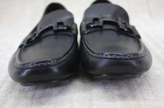 Salvatore Ferragamo Mens Daverio Black Leather Driving Loafers Shoes 9