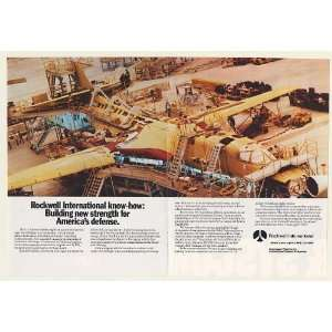 1984 Rockwell Building US Air Force B 1B Aircraft Double