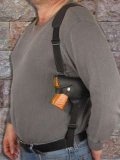 Black Leather Shoulder Holster for CZ 75 75D PCR Comp.