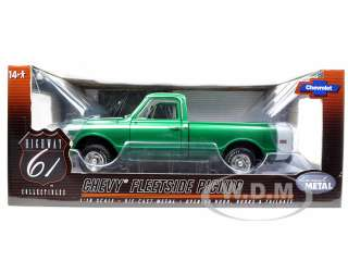 1969 CHEVROLET FLEETSIDE PICKUP TRUCK GREEN 1/18 804902509070