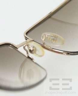 Prada Gold Metal Square Frame & Gradient Lens Sunglasses SPR52D