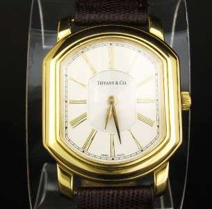 Tiffany & Co. Large Mark Coupe 18K Gold Mens Watch