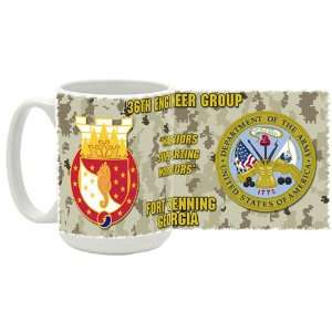 Army 36th Engineer Group Fort Benning GA Coffee Mug: Kitchen & Dining