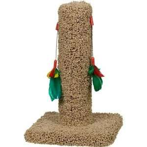Cat Scratch Post with Feather Toys