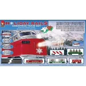 Life Like Trains HO Scale Holiday Rails Electric Train Set