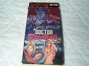 DOCTOR BLOODBATH VHS HORROR HOSPITAL MICHAEL GOUGH UK BRITISH 70S