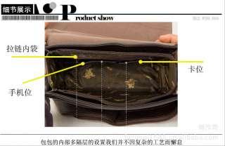 Mens Leather Messenger/Shoulder/Briefcase/Satchel BAG