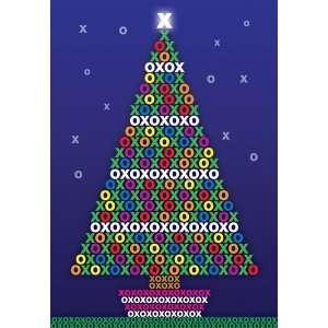 XOXO Christmas Tree   Boxed Holiday Christmas Greeting