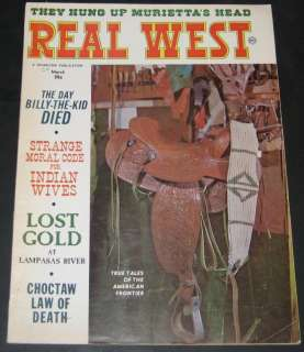 Real West Magazine March 1964 Billy the Kid