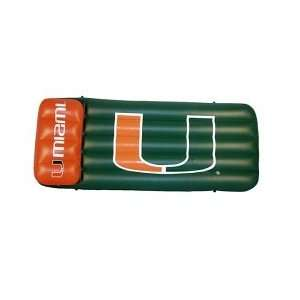 66 X 27 X 5 Pool Float Mattress  University of Miami Toys & Games