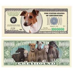 SET OF 100 BILLS GREYHOUND MILLION DOLLAR BILL Toys & Games