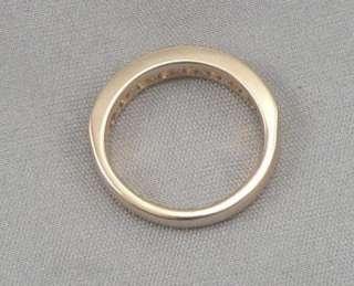 14K Solid Yellow GOLD 8 Stone 1.00ctw DIAMOND Wedding ANNIVERSARY RING
