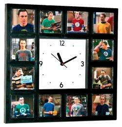 Sheldon Cooper The Big Bang Theory Clock w/12 pictures Shelton + his T