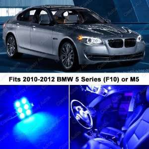 BMW 5 Series ULTRA BLUE LED Lights Interior Package Kit F10 (14 PIECES