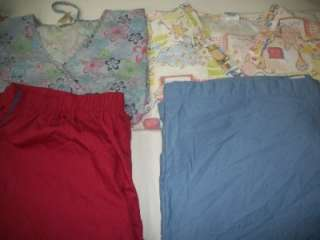 Medical Dental Scrubs Lot 10 PRINTED Outfits Sets Size 2XLARGE 2XL XXL