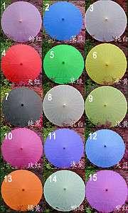Long Handle Parasol Wedding bride Dance Umbrella S9 15 color