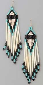 Jacquie Aiche Tipi Short Native American Beaded Earrings