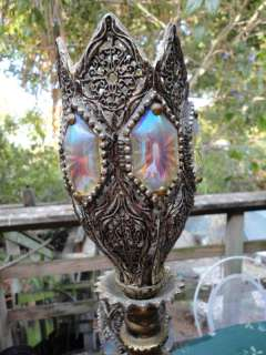 1930s Venetian Brass & Glass Banquet Lamp Murano ESTATE