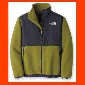 New NWT North Face Boys Denali Fleece Jacket Green Size XL
