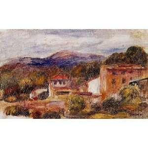 name House and Trees with Foothills, by Renoir PierreAuguste Home