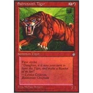 Magic the Gathering   Sabretooth Tiger   Ice Age Toys & Games