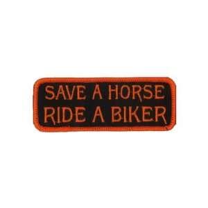 SAVE A HORSE RIDE A BIKER Quality Fun Biker Vest Patch