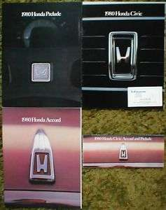 1980 Honda Civic Accord Prelude Brochure Lot