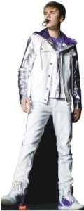 JUSTIN BIEBER IN CONCERT LIFESIZE STANDEE STAND UP NEW