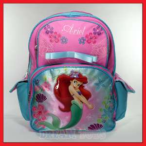 Disney Little Mermaid Ariel 16 Backpack   Princess Girls School Bag