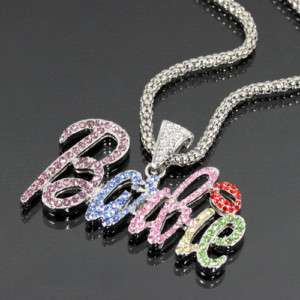 Iced Out Nicki Minaj BARBIE Necklace in 6 COLORS NWT