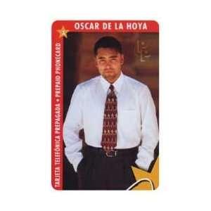 Collectible Phone Card $10. Oscar De La Hoya   Boxing   White Shirt