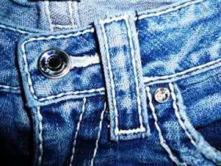 True Religion Disco Billy Big T Low Rise Stretch Straight Leg Jeans