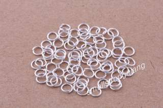 800 Pcs silver plated Open split Jump Rings Connectors Jewelry