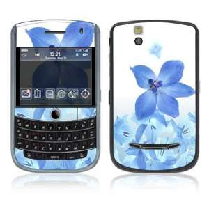 BlackBerry Tour 9630 Decal Vinyl Skin   Blue Neon Flower
