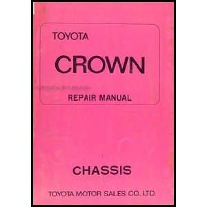1971 Toyota Crown Chassis Repair Shop Manual Original Toyota Books