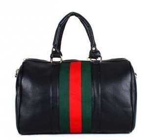 Fashion Girl Boston Tote PU leather Lady Casual Handbag Shoulder Bag