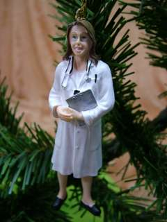 New Female Doctor Physician Lab Coat Christmas Ornament