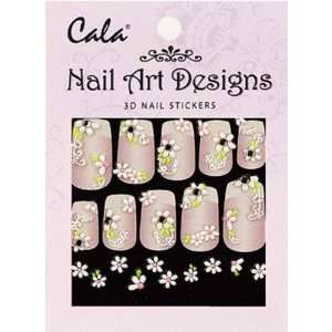 Jeweled 3D Nail Art Stickers x2 Packs Flowers #86387 + Aviva Nail File