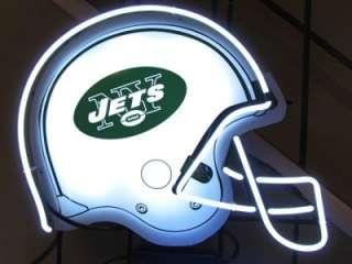 Jets NFL Football Helmet Neon Light Beer Bar Sign NEW RARE