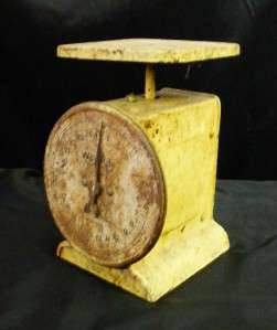 Collectible Yellow Way Rite Prim Weigh Weight Scale 25 lbs Capacity