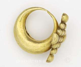 important tribal nose pin earring in gold Gujarat India 1930