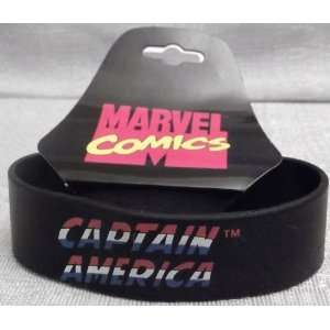 Marvel Comics CAPTAIN AMERICA 7 Long Black Bracelet