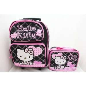 Hello Kitty 16 Large Rolling Backpack + Lunch Bag SET