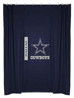 NEW Dallas Cowboys Logo Fabric Shower Curtain IN STOCK
