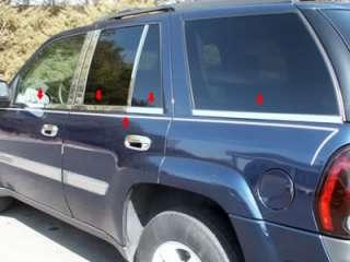 02 08 Chevy Trailblazer Chrome Window Sill Trim