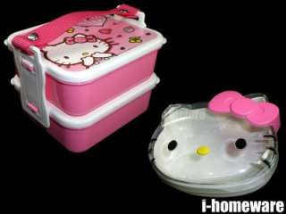 Hello Kitty Sanrio License Food Container Case w/ Lid Cover Lunch