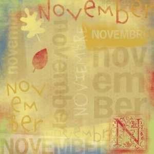 Foster Design 12x12 Calendar Paper  November Arts, Crafts & Sewing