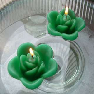 12 Kelly Green floating rose candles wedding party
