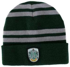 Harry Potter House of Slytherin Beanie Hat with Crest